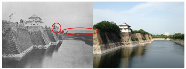 大阪城のお堀の古写真
