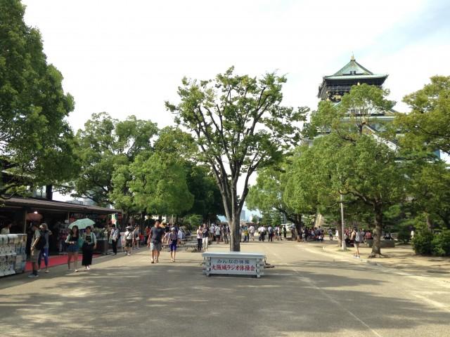 大阪城とお店
