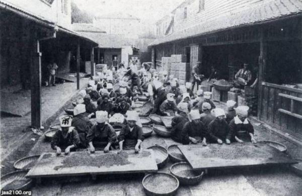 神戸居留地の茶藏の内部