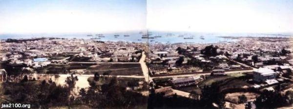 諏訪山から見た神戸港の全景