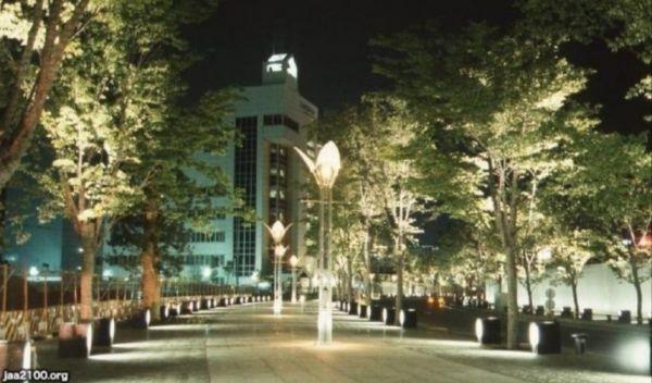ハーバーランド・ガス燈通りのイルミネーション