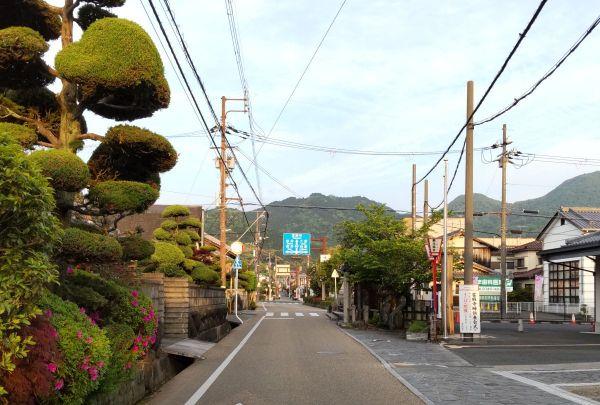 龍田村より當摩寺を望む