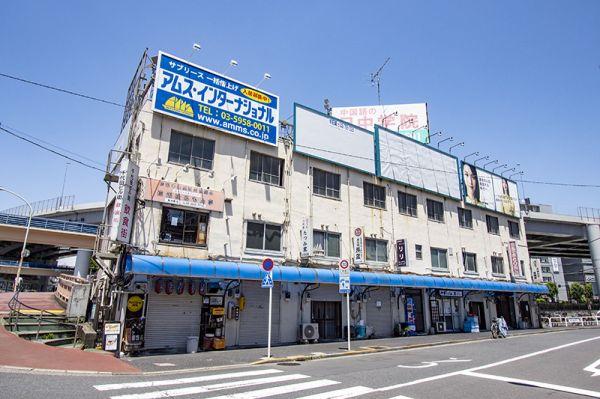 神田川沿いの共同店舗