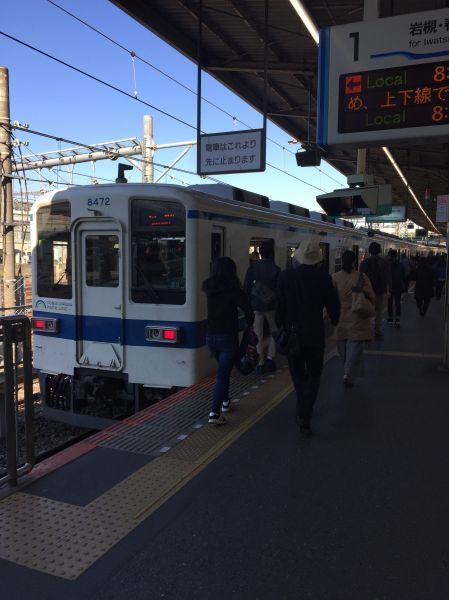 東武野田線大宮駅ホーム