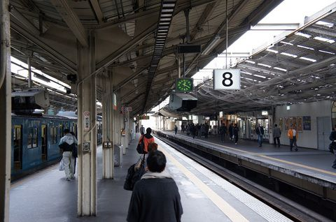 昭和34年の天王寺駅8番ホーム